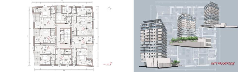 Studio di prefattibilità a Milano per un complesso residenziale – 2017